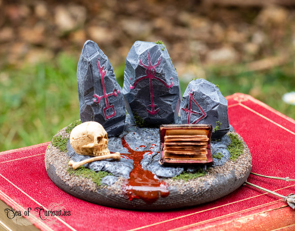 Necromancer's Lair Miniature Art