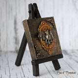 Bat Miniature Canvas and Easel