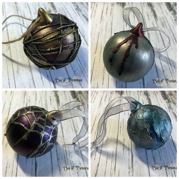 Christmas Mixed Media Alternative Ceramic Baubles