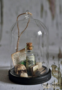 Miniature Witch/Wizard Magic Hanging Dome/Tree Decoration - Frog Potion