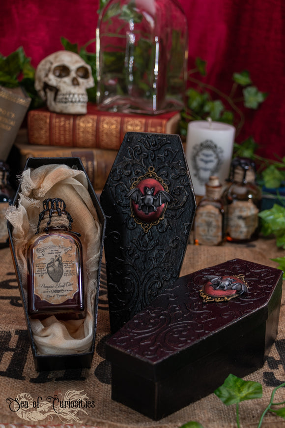 Vampire Blood Elixir with Coffin box