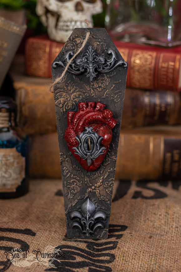 Locked Anatomical Heart Coffin Hanging Decor