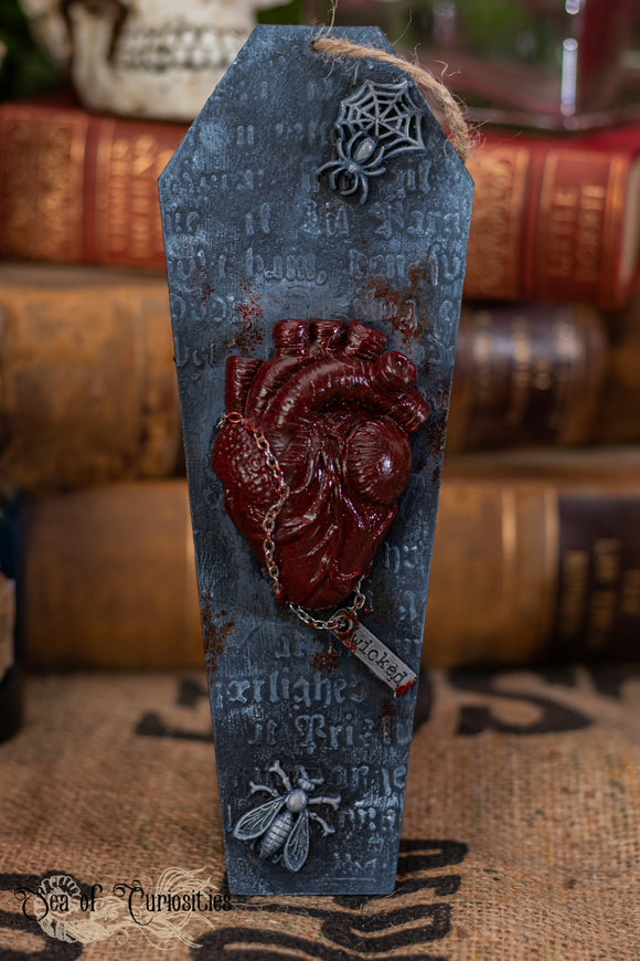 Wicked Anatomical Heart Coffin Hanging Decor