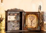 Key to my heart Wooden Cabinet