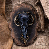 Crow Wall Plaque - Bronze & Vintage Gold