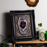 Anatomical Heart Gothic Coffin Framed Art