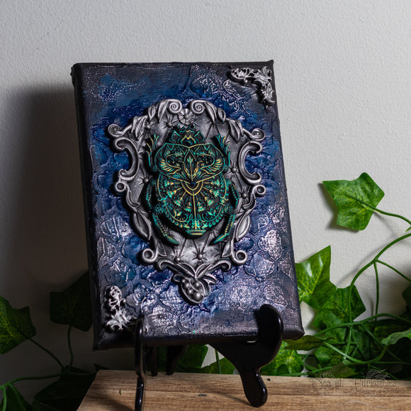 Ornate Beetle Gothic Canvas Art