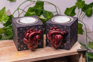 Anatomical Heart Tealight Candle Holders (Set of 2)