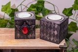 Gothic Batwing Tealight Candle Holders (Set of 2)
