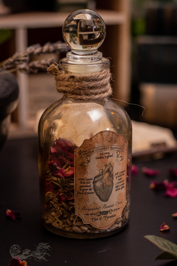 Madam Cordelia's Persuasive Passion Brew - Apothecary/Potion Bottle