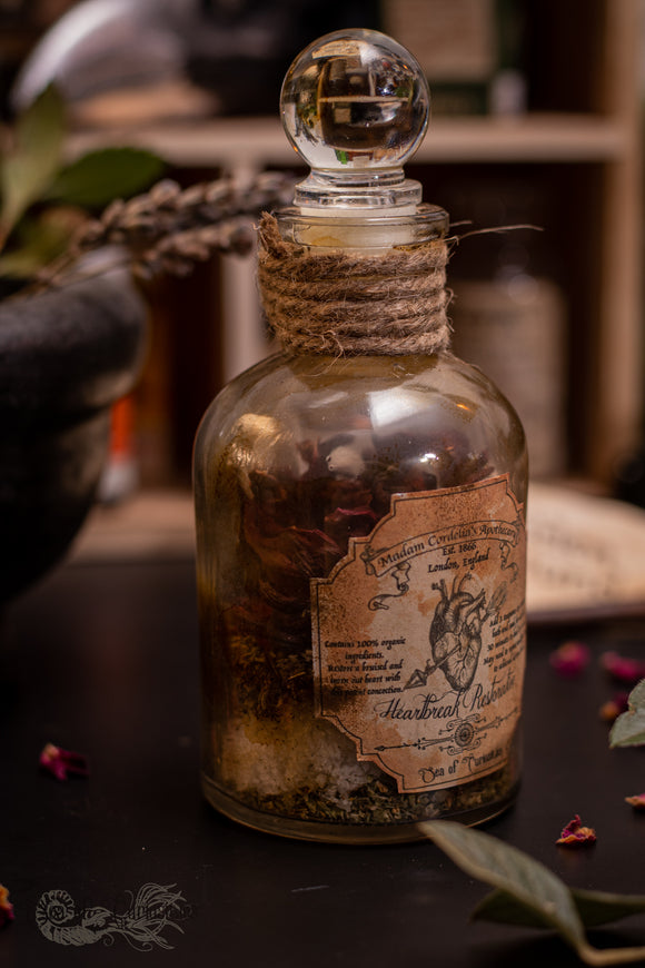 Madam Cordelia's Heartbreak Restorative  - Apothecary/Potion Bottle