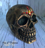 Flame Crystal Skull Gothic Decor