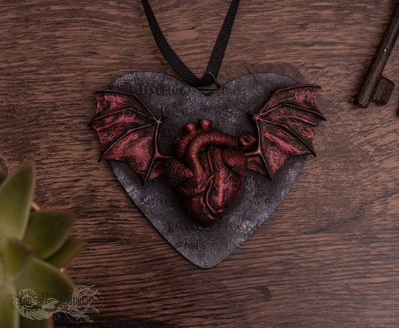 Anatomical Winged Heart -  Hanging Heart