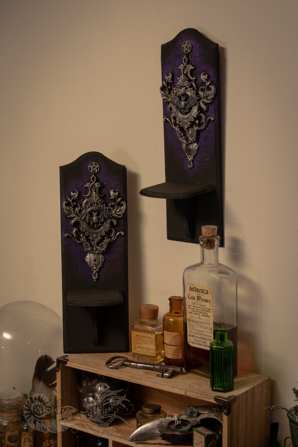 Bat Wooden Wall display shelves - Set of 2
