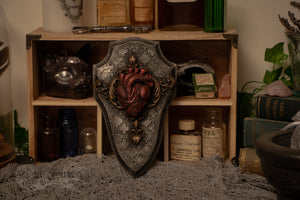 Anatomical Heart Gothic Wall Plaque