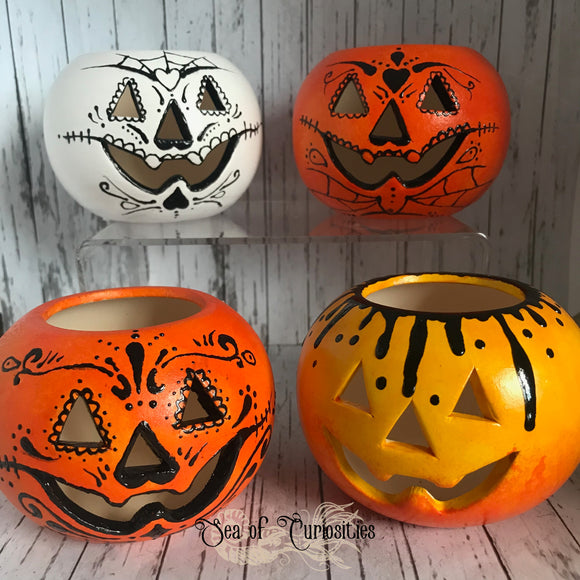 Pumpkin Tea Light Candle Holders