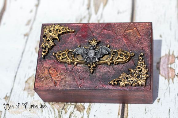 Gothic Bat Wooden Box