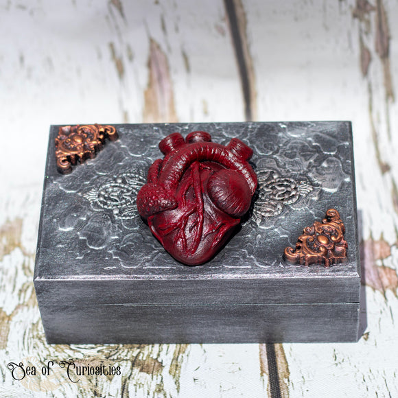 Anatomical Heart Wooden Box