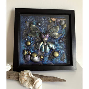 Ocean Shell Beach Fairy Mixed Media Box Frame