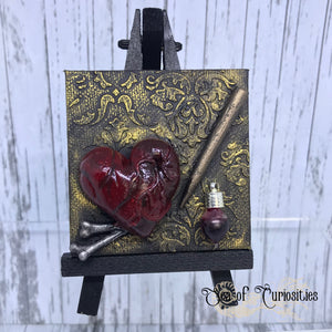 Vampire Slayer miniature canvas and easel