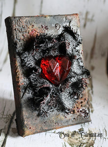 Suffocating Heart Mixed Media Canvas Art