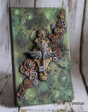 Steampunk Key Altered Journal/ A5 Dotted Paper Notebook