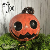Ready Made - Sculpted Pumpkin/Jack O Lantern Halloween decor