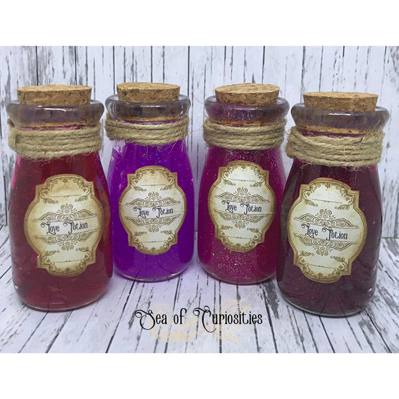 Valentines Love Potion Bottles