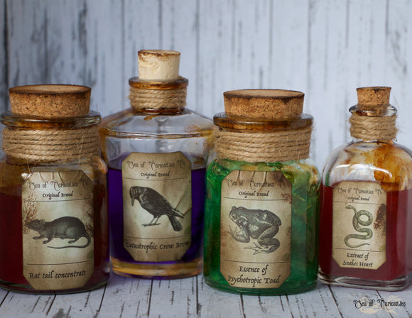Macabre Inspired Apothecary/Potion Bottles