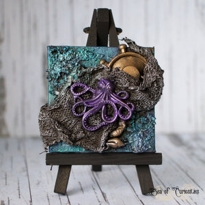 Octopus Miniature Canvas and Easel