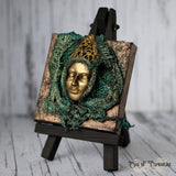 Masked Queen Miniature Canvas and Easel