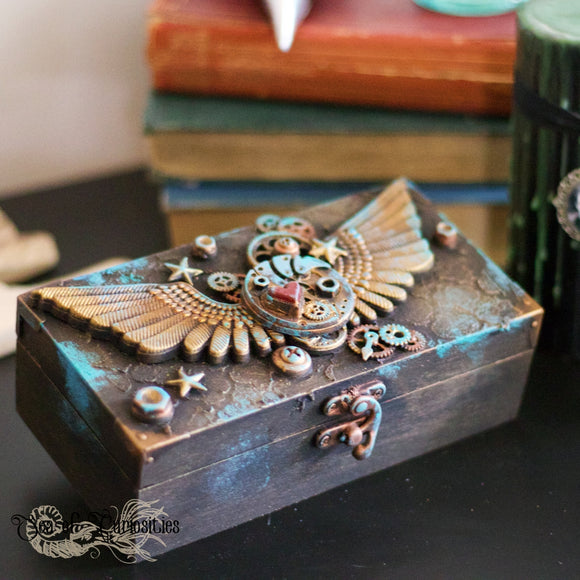 Mechanical Wings Steampunk Trinket Box