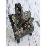 Butterfly and Flower vintage Mixed Media Miniature