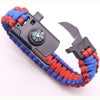 BLITHEYO Outdoor Knife Survival Bracelets Camping Rescue Parachute Cord Compass Bracelets & Bangles Wristband Emergency Kits