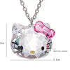 Crystal From Swarovski Jewelry Bojiux Stainless Steel Chain Necklace Pendants Cute Hello Kitty Cat Necklaces For Women Brincos