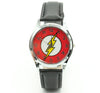 DC Universe The Flash Superhero Leather Band Boy Child Fashion Watch Wrist