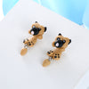 Fashion Handmade Polymer Clay Soft Cute Sharpei Pug Dog Earrings For Women Cartoon Animal Piercing Ear Stud Earring Jewelry Gift