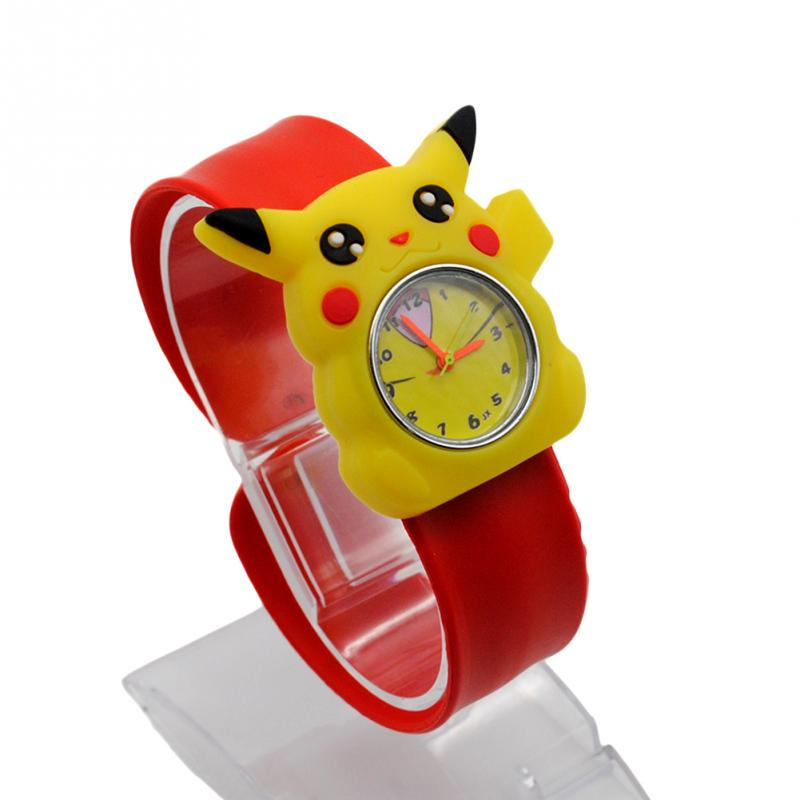 High quality Snap watches 3D Kids Cartoon watches for Batman Pikachu children Christmas gift sports  silicone slap wristwatch