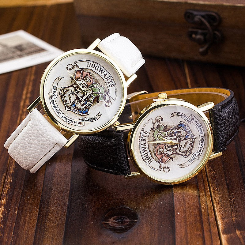 The popular HOGWARTS Magic Schoolboy Watch unisex Watches Women Wristwatch Casual Luxury Quartz Watches Relogio free shipping