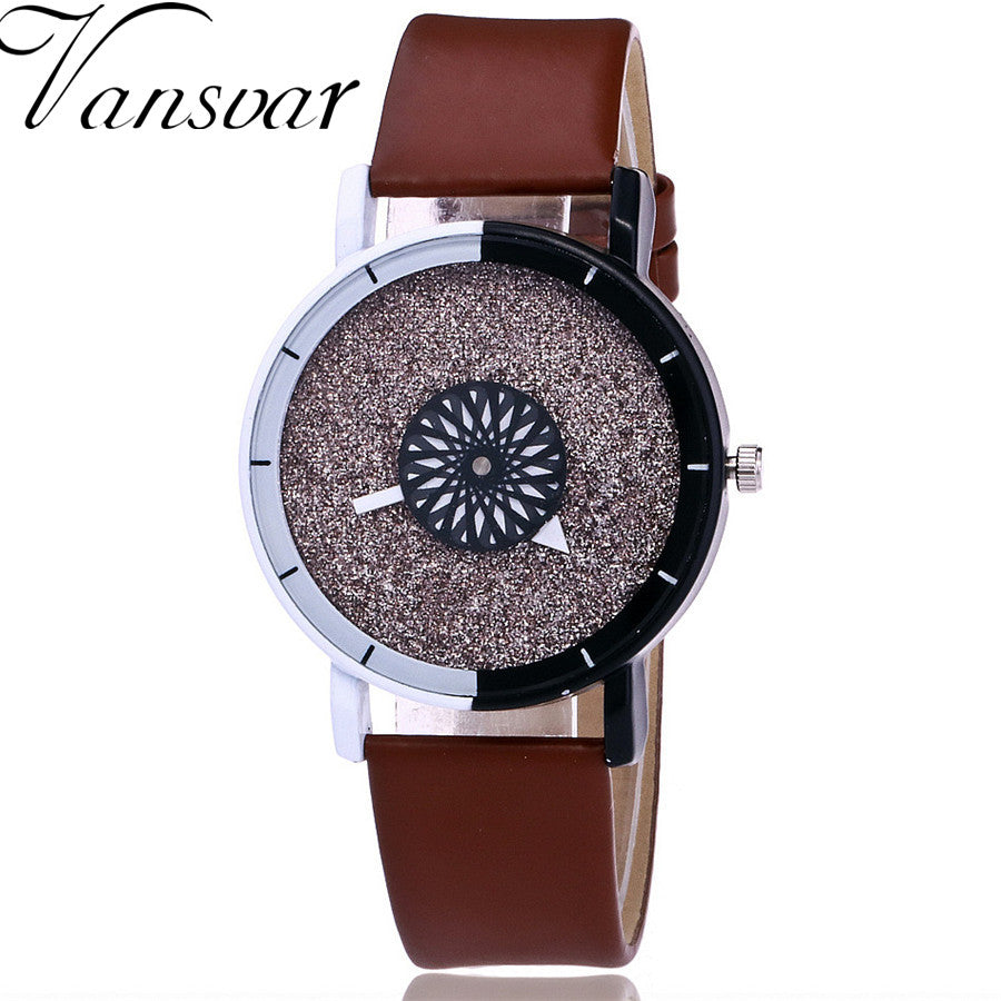 312238781f1 Vansvar Brand Fashion Women Wristwatch Luxury Casual Candy Leather Quartz Watch  Relogio Feminino Gift Clock Drop Shipping