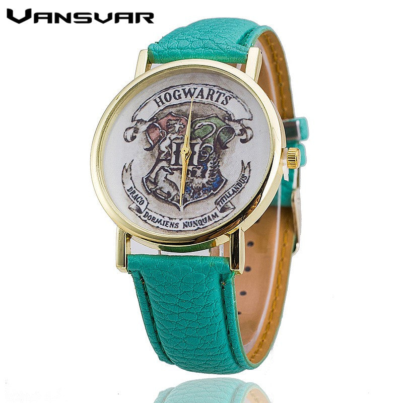 Vansvar Brand HOGWARTS Magic School Watches Fashion Women Wristwatch Casual Luxury Quartz Watches Relogio Feminino 1544