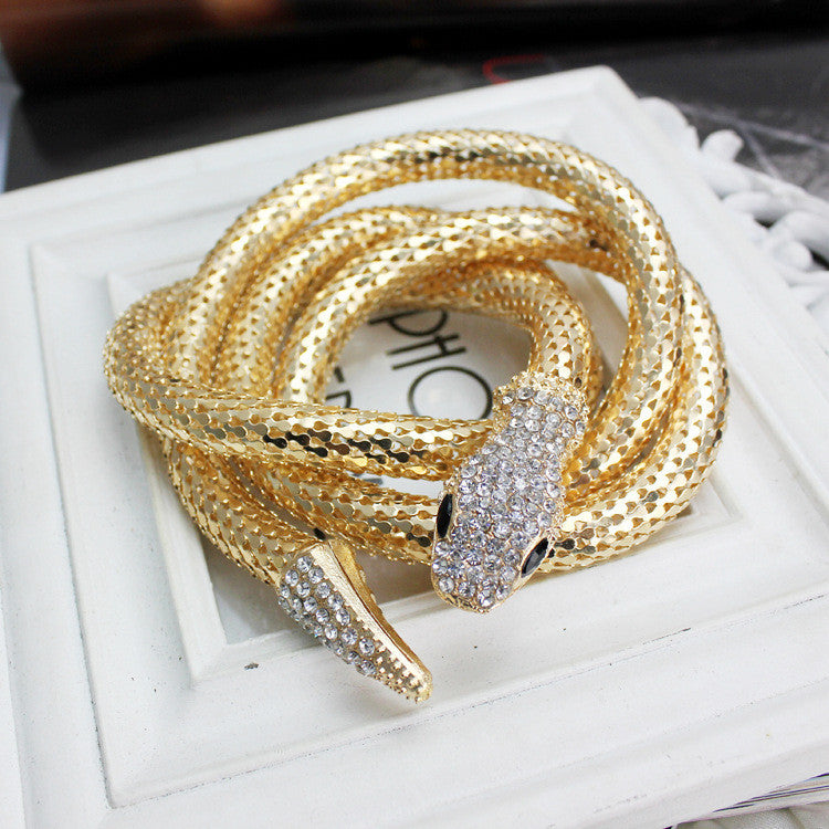 high quality crystal gold/silver Snake belt for women collier femme bijoux Snake necklace women crystal belts choker necklace