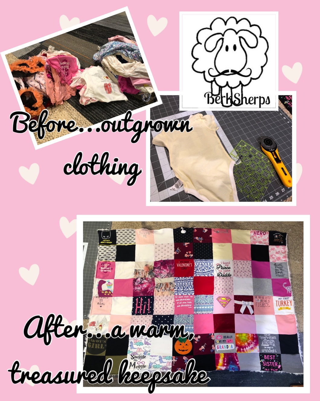 Memory Blanket for Baby/Child Clothing
