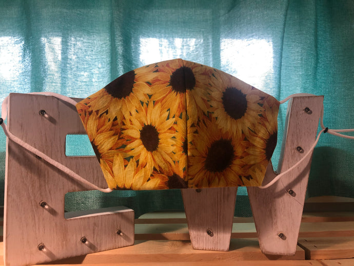 Sunflowers Cotton Mask