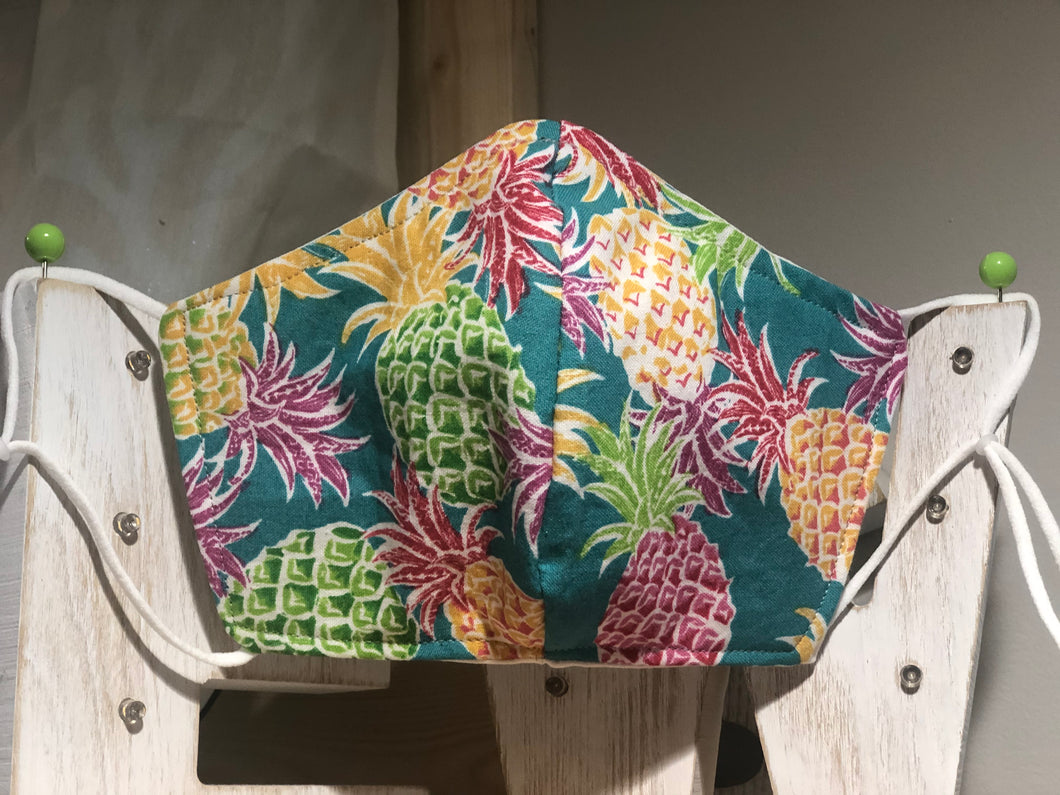 Pineapple Paradise Cotton Mask