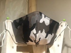 Grey Camo Cotton Mask