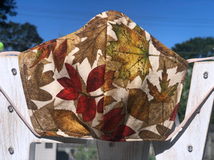 Crunchy Fall Leaves Cotton Mask