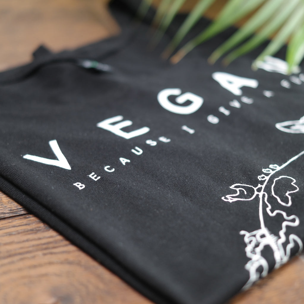Vegan because I give a fuck T-shirt