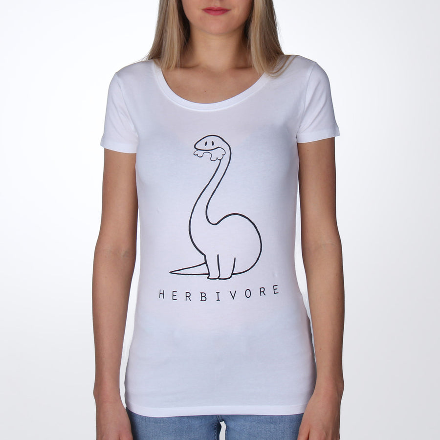 Vegan shirt vrouwen dames wit herbivore - By Monkey