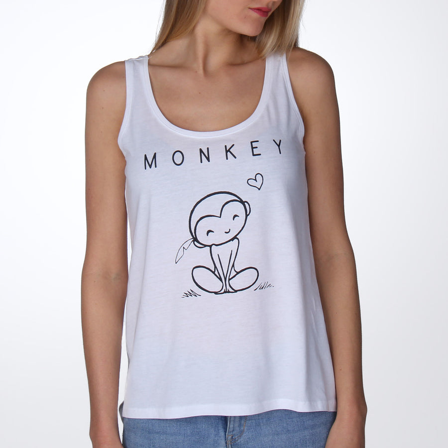 Vegan monkey T-shirt aapje vrouwen - By Monkey